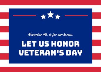 Día de los Veteranos - 11 de noviembre