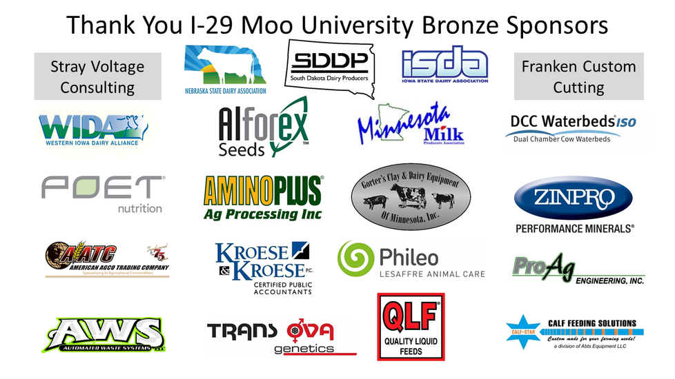 I-29 Moo University Bronze Sponsors for 2019