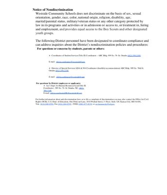 Non   -                               discrimination     Notice