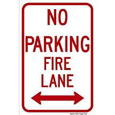 Parking in the Fire Lane