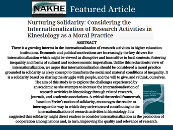 NAKHE Featured Article
