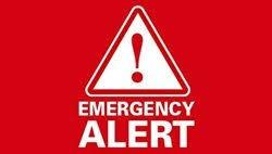 WARNING ALERT / WIRELESS EMERGENCY / EMERGENCY ALERT TEST on October 3