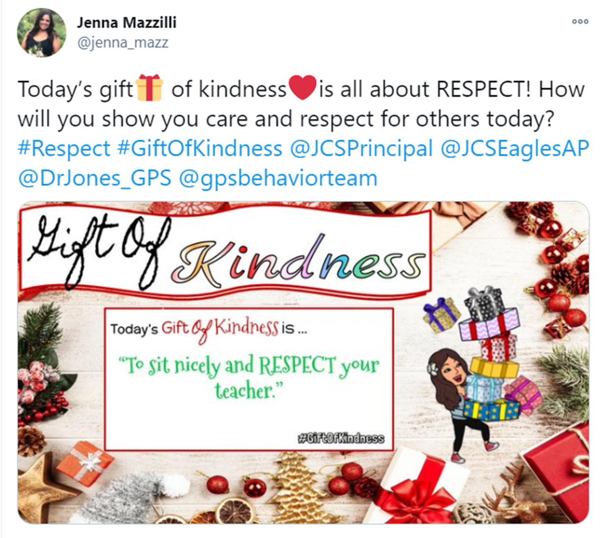 The was a daily gift of kindness at JC.