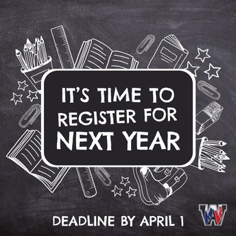 Registration for the 2021-2022 School Year is NOW OPEN!