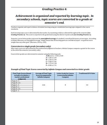 Grading Practice 4, pg. 19 of the SRG Handbook