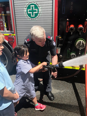 Foundation Firefighters Visit