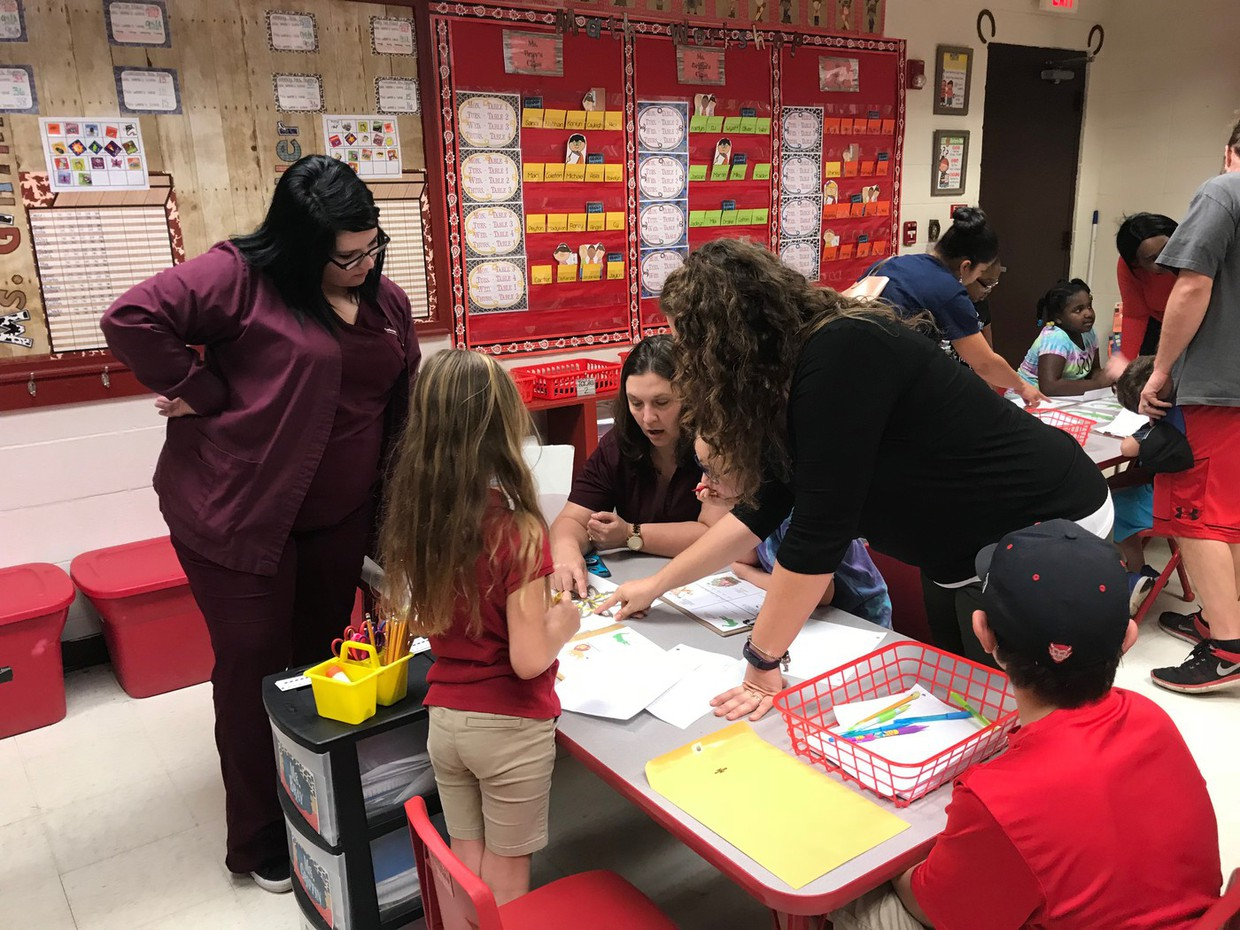 """Port Barre Elementary held Math and Science Night on Feb. 27, 2018. Parents and students engaged in content aligned math and science skills that required critical thinking, collaboration, creativity, and communication to solve a series of challenging puzzles in order to crack the code to """"Breakout"""". Upon cracking the code and unlocking the box, each student received a set of math flash cards."""