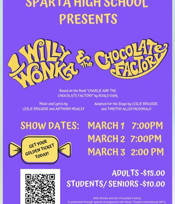 Sparta HS Presents Willy Wonka & the Chocolate Factory