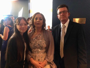 Familia Candido-Ortiz being honored at the Silicon Valley Foundation Gala Event