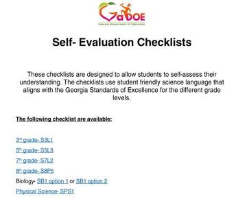 Science Self-Evaluation Checklist