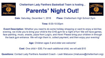 Parents' Night Out! Tomorrow