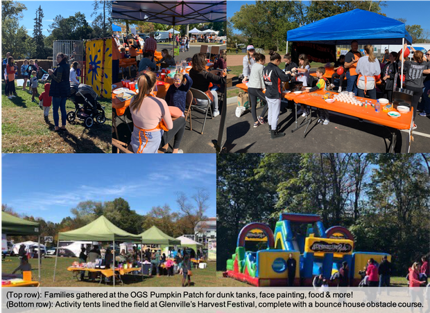Images from OGS Pumpkin Patch and Glenville Harvest Festival including dunk tanks, face painting, bounce houses and food tents