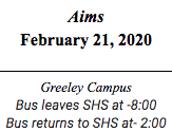 Aims  February 21, 2020