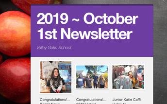 screenshot of Oct. newsletter