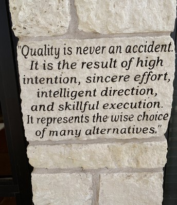 Quality is never an accident.