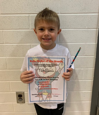 Pre-K Role Model of the Month