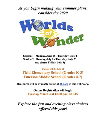 Worlds of Wonder Flyer