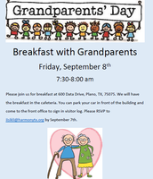 Grandparents welcome this Friday!!