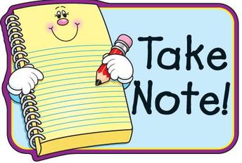Reminder for Parent Pick-Up Notes