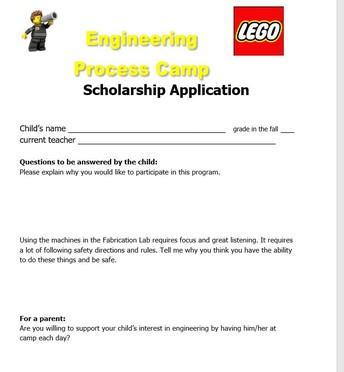 Engineering Camp Scholarship Appliction