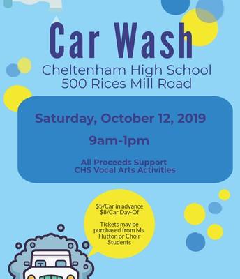 CHS Vocal Arts Car Wash