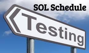 Tentative SOL testing dates