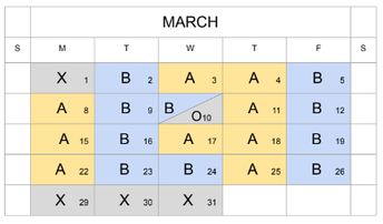 A/B Calendar Continues for Another Week