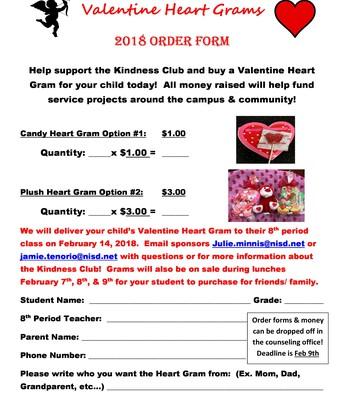 Valentine Heart Grams