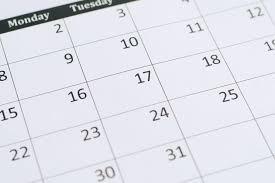 Check the Calendar!
