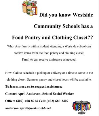 Westside                         Food  Pantry     and          Clothing Closet