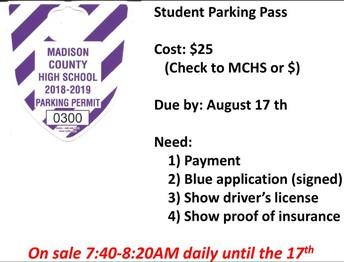 2018-2019 Parking Passes