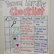 Ms. Dobbs 4th Grade Personal Narrative Anchor Chart