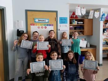 4th grade - Perfect Attendance - December 2018