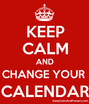 Get Out Your Calendar... and Your Eraser!