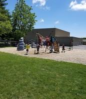 The kids love the new playground