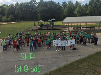 First Graders Wear Green