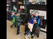2 Way Dual Lang. kinder students visit a nearby elderly home as they study communities!