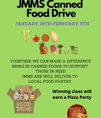 ASB Canned Food Drive until February 5th