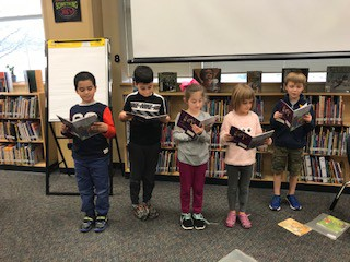 First Graders reading a play
