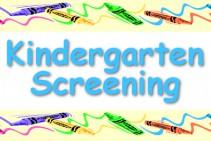 Kindergarten Screening for Fall 2021