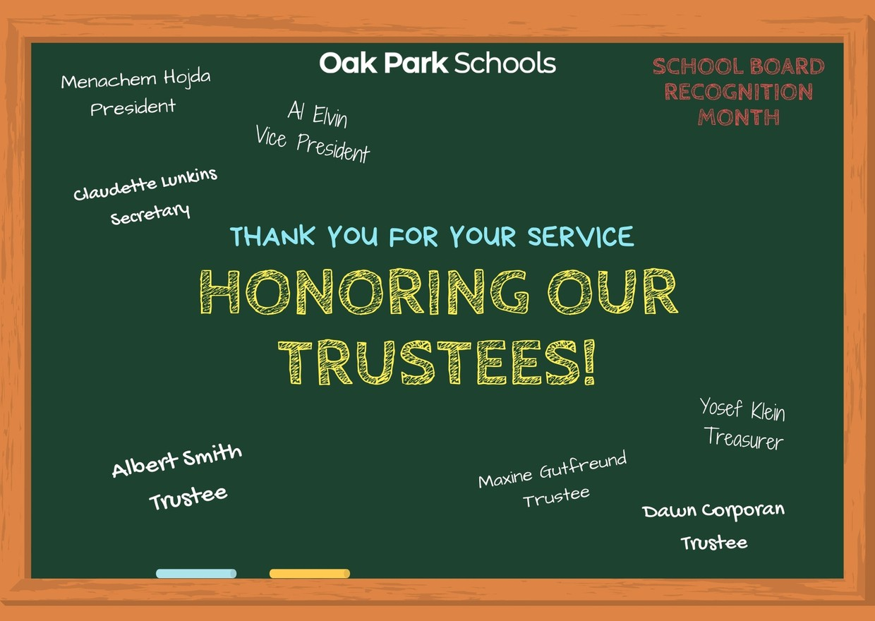January is School Board Recognition Month! We would like to honor our Board of Trustees for their tremendous commitment and dedication to our students and public education in Michigan