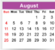 August Dates To Remember - Mark your calendars now