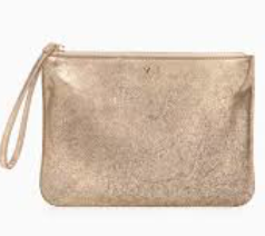 In Charge Pouch - Distressed Gold