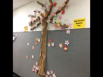 Team Purdue Thankful Tree