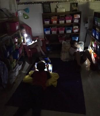 "Reading time on ""Flashlight Friday"""