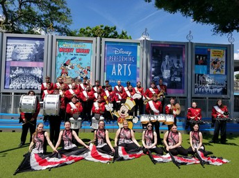 Comet Marching Band performed at Disney!
