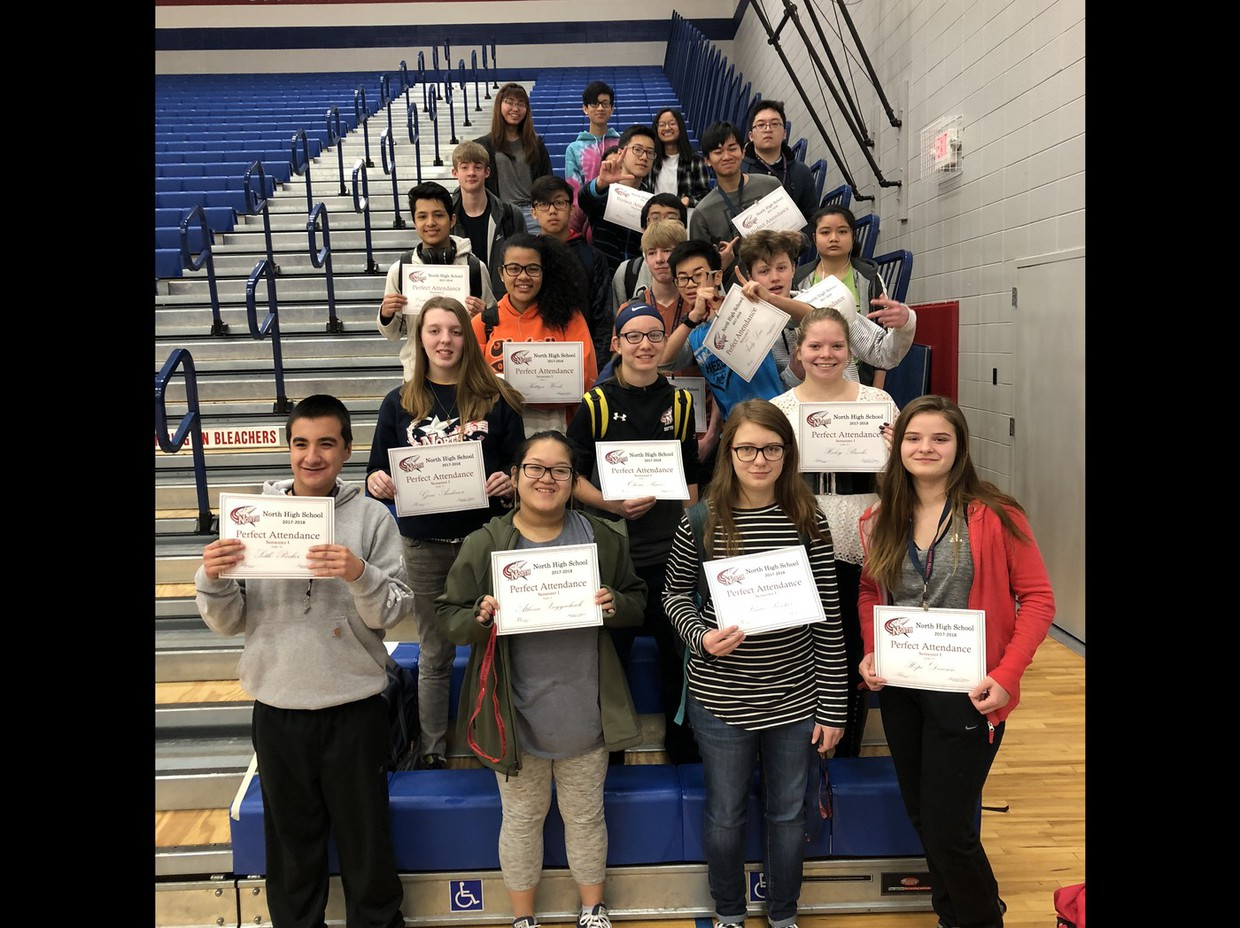 Semester 1 Perfect Attendance. Forty one studnets never missed a class or had a single tardy!