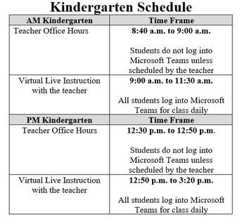 Regular Daily Schedule