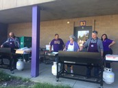 Manns and Slaton grill lunch for students