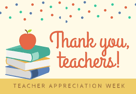 Teacher Appreciation Week Starts May 3rd!